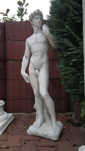 "Stone statue ""David"" by Michelangelo, height 115 cm"