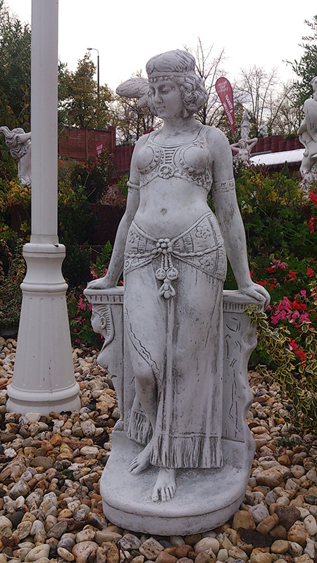 Stone Sculpture / Garden Mata Hari figure height 77 cm