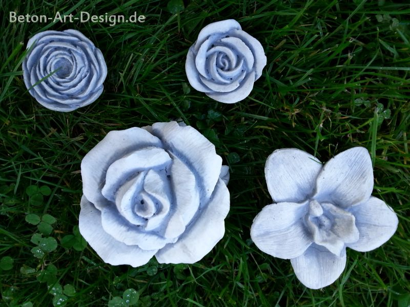 """Flower Set"" table decoration / garden decoration 4 piece set"