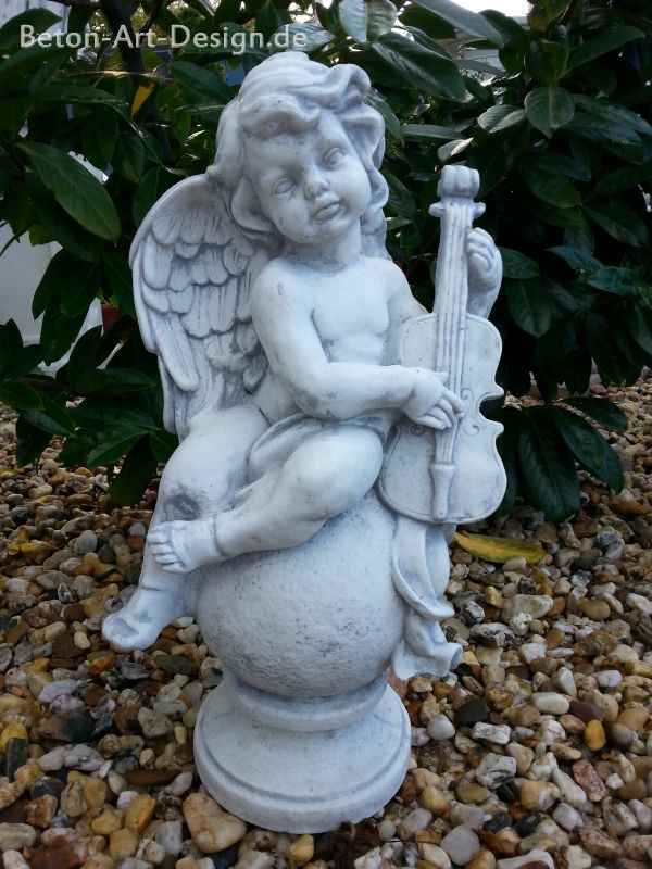 "Garden figure ""Angel on ball with violin"""