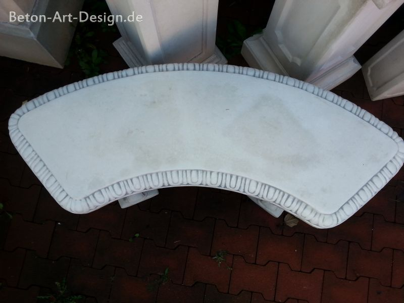 "curved garden bench decorative ""leaf"" 133 cm wide"
