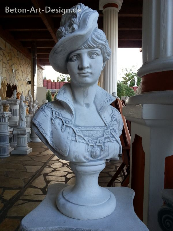 "Garden Figure / Bust ""Woman with Hat"" Statue 47 cm"
