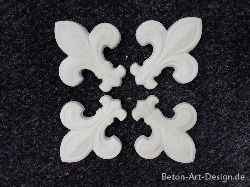 SET 4 pieces lilies ornaments stucco wall decoration