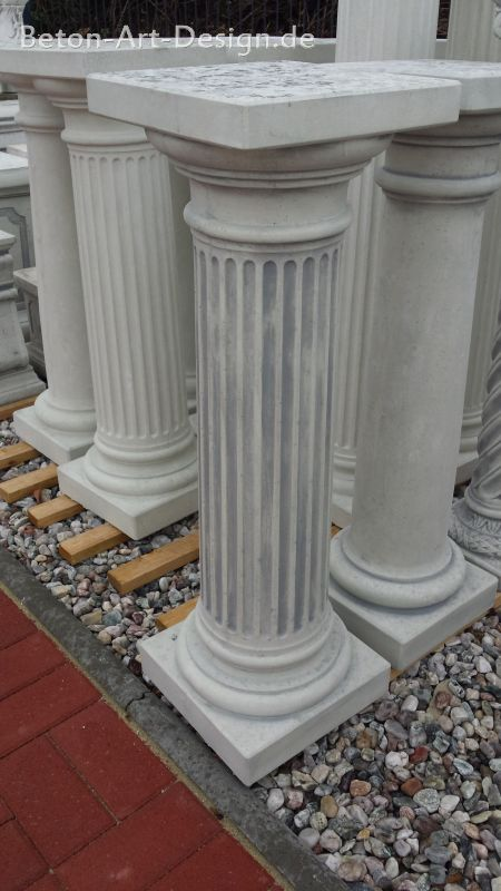 "decorative column / base ""grooved"" 83.5 high"