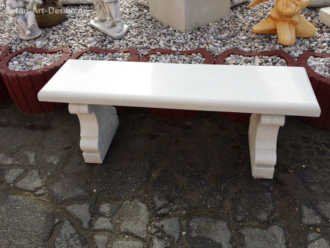 unusual stone bench / Garden Bench smooth 125 cm long