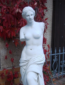 "stylish large statue ""Venus"" concrete 121 cm"