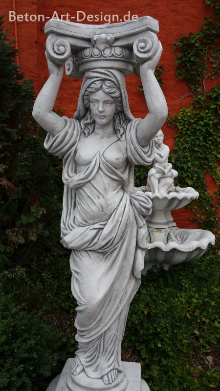 beautiful caryatid columns 154 cm high figure