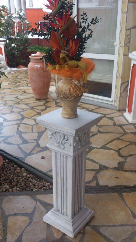 Figurensockel 82 cm Gartenfigur Steinguss Betonsäule Säule Sockel Gartendeko
