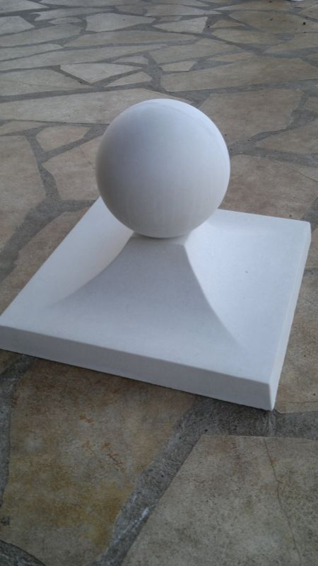 Pillar cover 39x39 cm with ball - 2 pieces