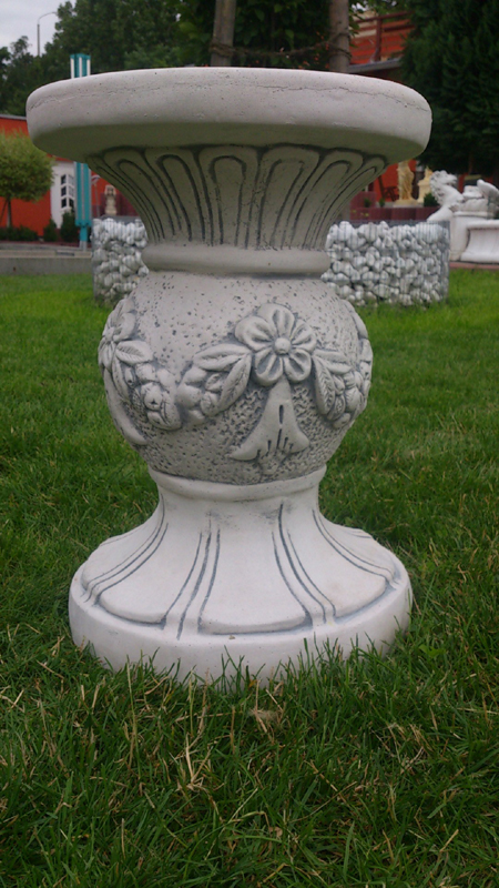 decorative / stool / column of white flowers Decorative Concrete