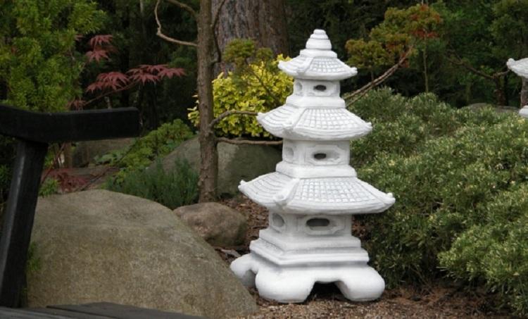 JAPAN LATERNE Yukimi STEINLATERNE Steinguss RANKEI GARTENLAMPE STEINLAMPE Pagode