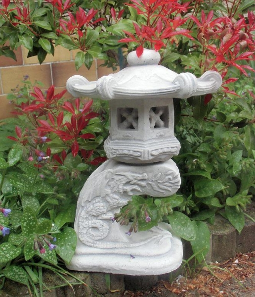 feng shui gartenfigur japan lampe drachen steinguss 33. Black Bedroom Furniture Sets. Home Design Ideas