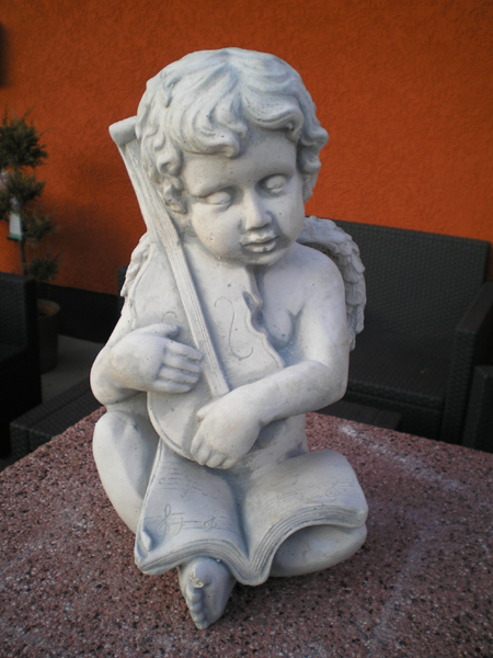 "Garden Statue ""sweet angel playing violin"""