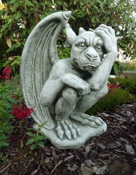 great wall Gargoyle Guardian 43 cm tall artificial stone