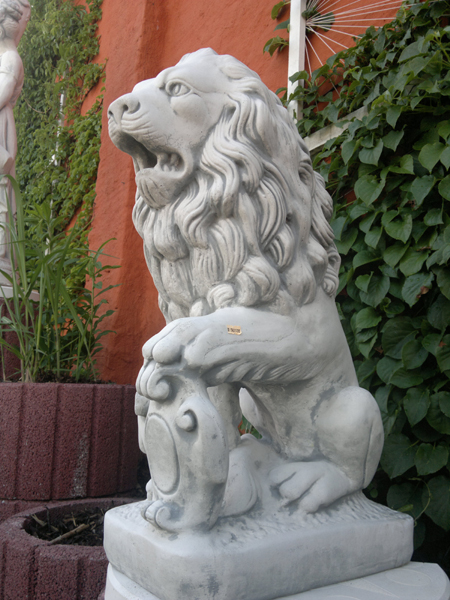 Lion figure left leg lifted
