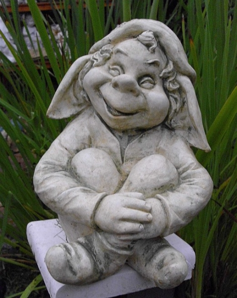 Sitting in the sweet garden gnome - available in various colors