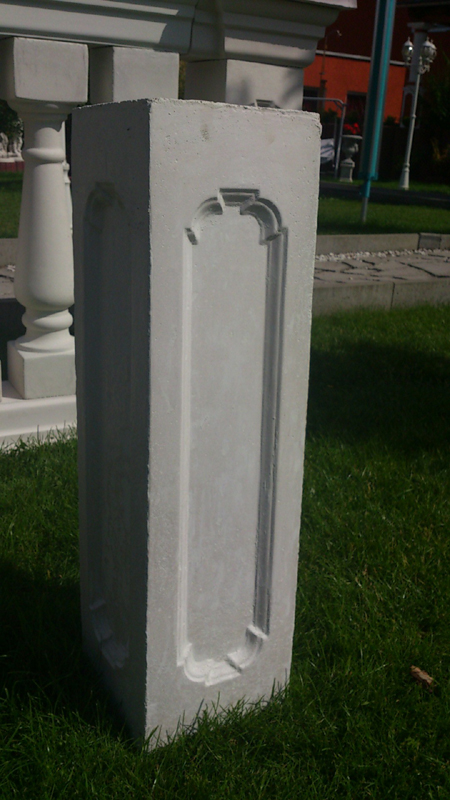 Balustrades - column / pillar height: 72.5 cm - 48 Kg