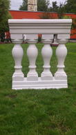 Komplettbalustrade total length 75 cm height 89 cm